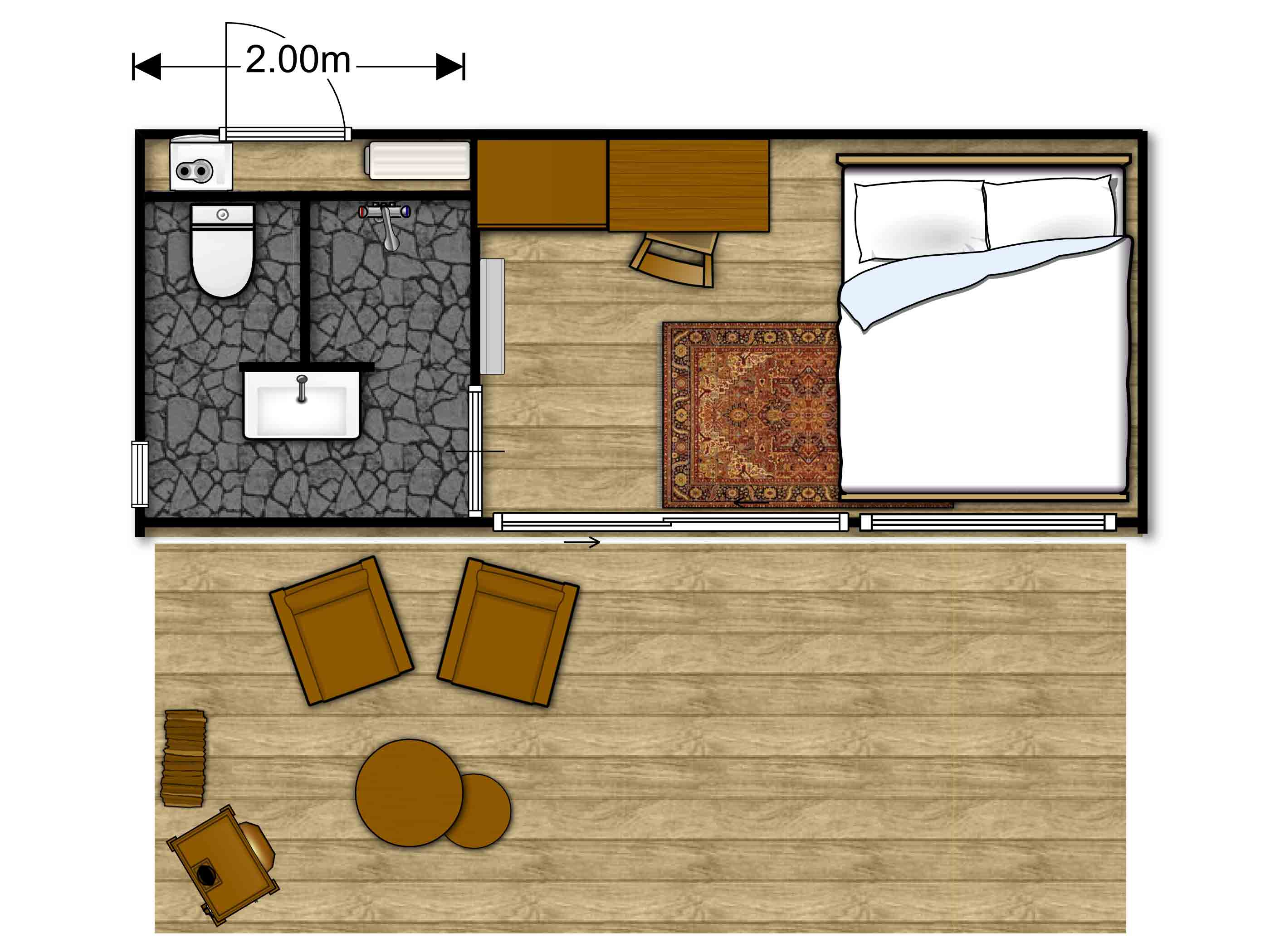 Container home floorplan