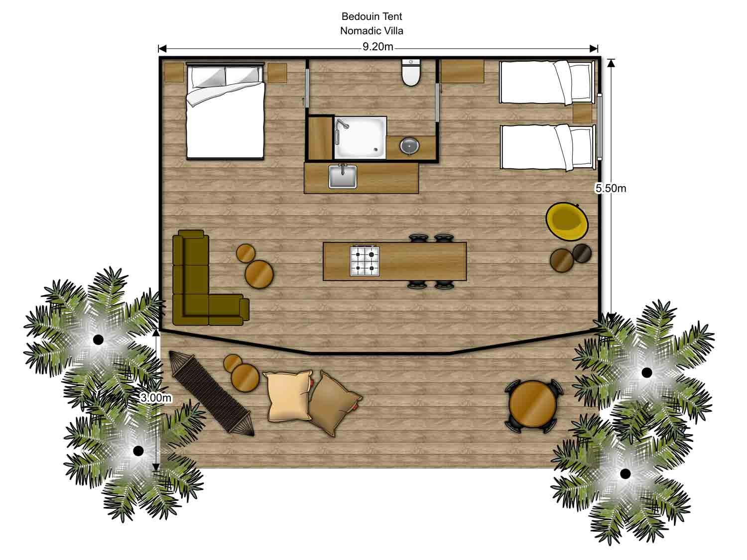 Floorplan Luxury Glamping Tent Group Family Outdoor Living