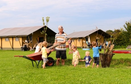 Farm glamping with family